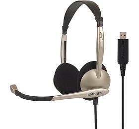 KOSS sluchátka CS100 USB ,sluchátka smikrofonem, bez kódu