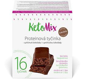 KetoMix Proteinové tyčinky spříchutí čokolády 16x 40g