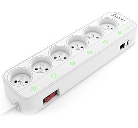 Revogi Smart Power Strip 2.adaptér s6 bezdrátově ovládanými zásuvkami, WiFi