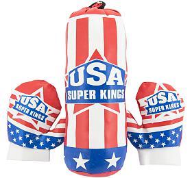 Boxovací pytel 10x33cm +rukavice vsíťce
