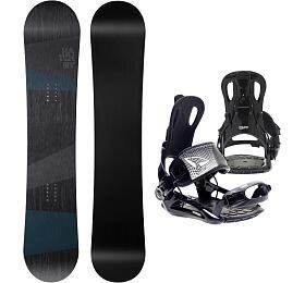 Hatchey Snowboardový set General +FT270 black, XL