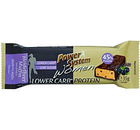 Power System Women LOWER CARB Protein Bar 45% Blueberry-Muffin 35g
