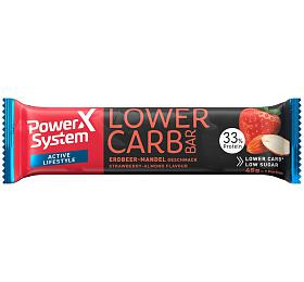 Power System LOWER CARB Protein Bar 33% Strawberry Almond White Chocolate 45g