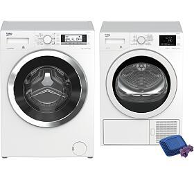 SET Pračka BEKO WTV 8735 XC0ST + Sušička BEKO EDH 8634 CSRX