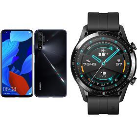 Huawei Nova 5TDual Sim, černý +Huawei Watch GT2, černé