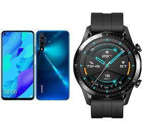 Huawei Nova 5TDual Sim, Crush Blue +Huawei Watch GT2, černé