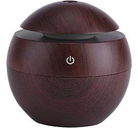 Aroma difuzér Y01 130ml tmavé dřevo -ultrazvukový, USB HUTERMANN