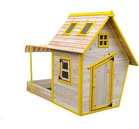 Marimex domeček dětský dřevěný spískovištěm Flinky