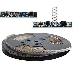 LED pásek sada 20m 12V 3528 120LED/m IP20 max. 9,6W/m bílá teplá extra, gold +TD311 +LSS309 TIPA