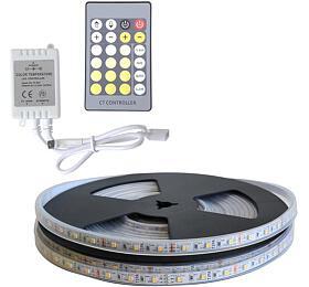 LED pásek sada 10m 12V 3527 60LED/m IP66 max. 4,8W/m CCT, variabilní +CCT kontrolér TIPA