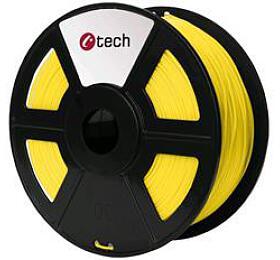 Tisková struna C-TECH, ASA, 1,75mm, 1kg, žlutá