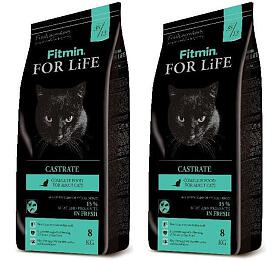 FITMIN cat For Life Castrate -2 x8 kg
