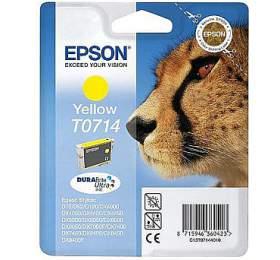 Epson T0714, 405 stran originální -žlutá