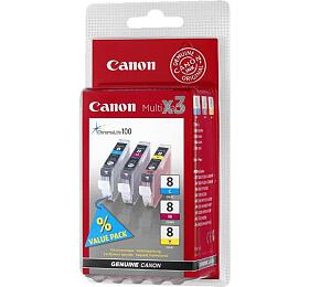 Canon CLI-8 CMY, 420 stran originální - červený/modrý/žlutý