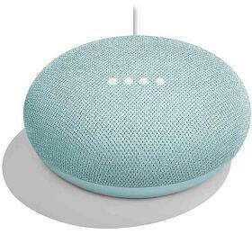 Google hlasový asistent Home Mini Aqua/ Google Assistant/ Wi-Fi/ Bluetooth/ micro USB/ CZadaptér/ aqua