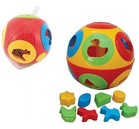 Vkládačka míč plast průměr 17cm vsíťce 12m+