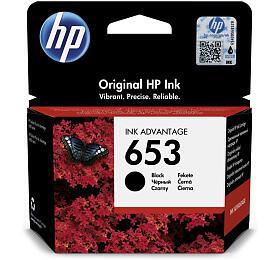 HP inkoustová náplň 653 černá