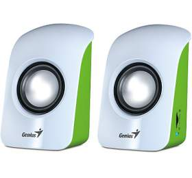 Genius SP-U115 2.0 -bílá/zelená