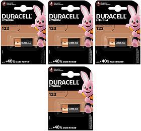 DURACELL FOTO 4xCR123 Lithium