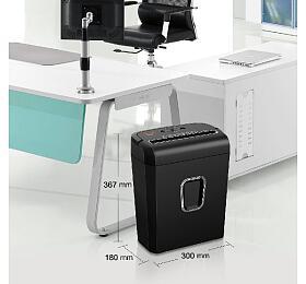PEACH skartovač Cross Cut Shredder PS500-30, P-4, 7listů, spony, svorky, kreditní karty, 13L