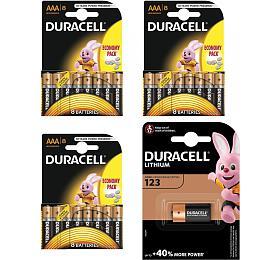 DURACELL Basic AAA 2400 24ks aDuracell CR123