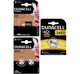 DURACELL DL123 3Va CR2016 2ks aCR2450 1ks
