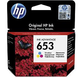 HP inkoustová náplň 653 tříbarevná