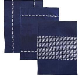 Orion modrotisk bavlna 70x50 cm