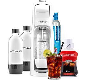 SodaStream JET WHITE +Lahev DuoPack 1l+ Příchuť COLA 500ml