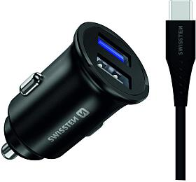 SWISSTEN CLADAPTÉR PRO HUAWEI SUPER CHARGE 22.5W +KABEL HUAWEI SUPER CHARGE 5A1,2 MBLACK