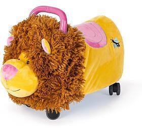 Funny Wheels Rider Ride-On lvíček plyšový růžový