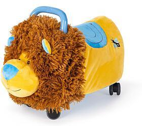 Funny Wheels Rider Ride-On lvíček plyšový modrý