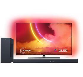 SET UHD OLED TV Philips 55OLED855 + TAB8805