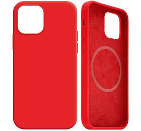 FIXED MagFlow spodporou Magsafe pro Apple iPhone 12mini, červený