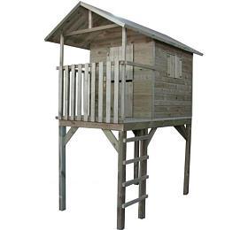 Marimex domeček dětský dřevěný sžebříkem Vyhlídka