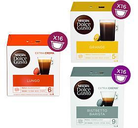 SET Nescafé Dolce Gusto Lungo, 16ks + Grande, 16ks + Barista, 16ks