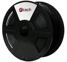 Tisková struna C-TECH, ABS, 1,75mm, 1kg, černá