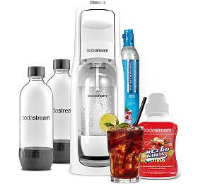 SodaStream JET WHITE +Lahev DuoPack 1l+ Příchuť retro COLA citrus