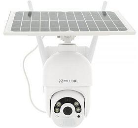 Tellur WiFi Smart solární kamera FullHD 1080P, P&T, IP65, PIR, outdoor, bílá