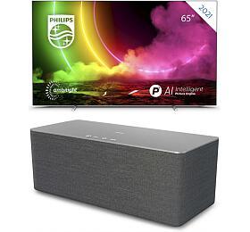 SET UHD OLED TV Philips 65OLED806 + TAW6505