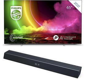 SET UHD OLED TV Philips 65OLED806 + TAB8205