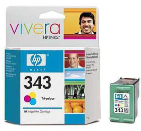 HP No. 343, 7ml, 260 stran originální -červená/modrá/žlutá