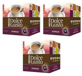 NESCAFÉ® Dolce Gusto® 3 balení kapslí Espresso, kapslový nápoj 16 ks