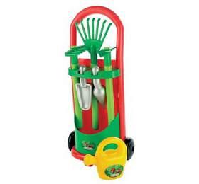 Ecoiffier se zahradním nářadím a konvičkou