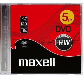 DVD-RW 4,7GB 2x 5PK JC 275524 Maxell