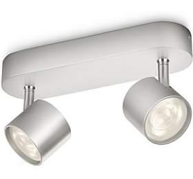 Star SVÍTIDLO BODOVÉ LED 2x4,5W 1000lm 2700K, hliník Philips 56242/48/16