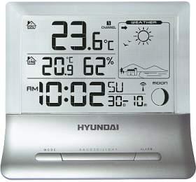 Hyundai WS 2266 průhledný displej, stříbrná