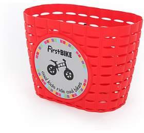 FirstBIKE Košík na řidítka červený