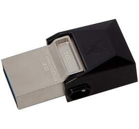 Kingston DataTraveler Micro Duo 3.0 16GB OTG MicroUSB/USB 3.0 -černý