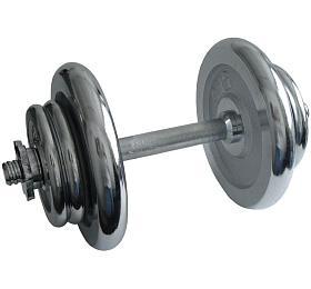 ACRA Nakládací činka jednoruční, chromová -17 kg